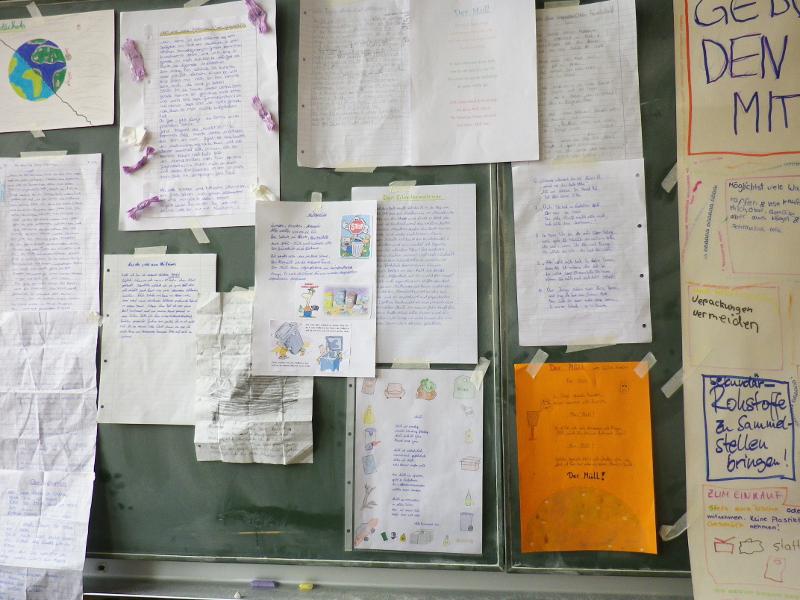 Sie sehen Bilder des Artikels: Das Müllprojekt der 6. Klassen