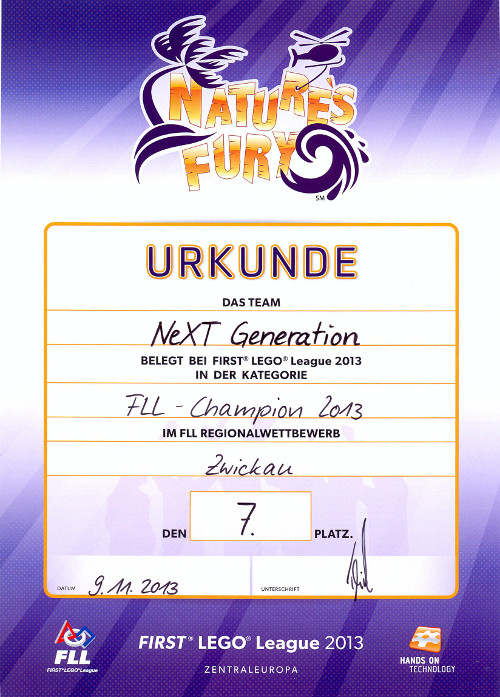 Sie sehen Bilder des Artikels: FLL 2013 - Regionalwettbewerb Zwickau